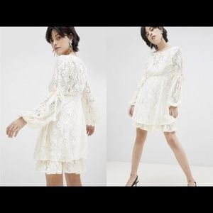 NWT! Free People Ruby Crochet Lace Mini Dress